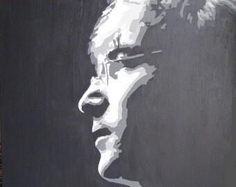 John Lennon - Original Pop Art Painting on box canvas