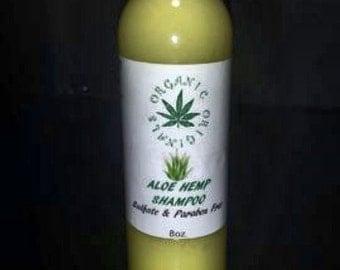 Aloe Hemp Organic Shampoo - Sulfate Free