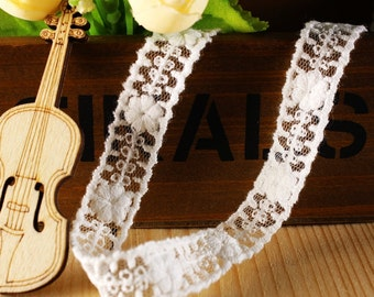 Inches White lace Trim Lace Ribbon Trim Brial Lace Trim By The Yard