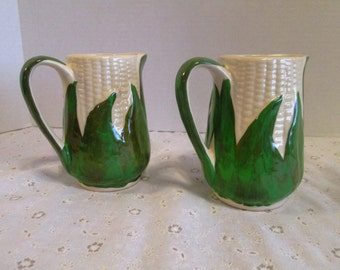 Vintage Shawnee White Corn Creamer; Early 1940's, Creamer Pitcher, Shawnee Pottery Corn Collectibles, Excellent Condition, One Available