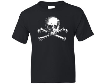 Kids Pirate Shirt - Olde Skull and Bones