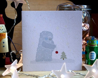 Christmas Card 'Abominable Snowman'