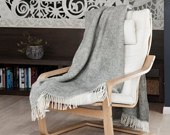 Wool blanket,wool throw,grey throw,Scandinavian style