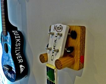 Ukulele Wall Mount or Bracket Handmade in Solid Oak Ukulele Stand / Storage