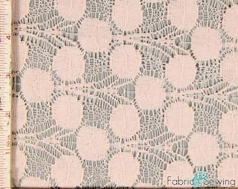"Light Pink Large Dandelion Flower Fabric 2 Way Stretch Cotton Nylon 6 Oz 58-60"""