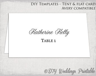 Flat escort cards | Etsy