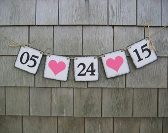 Save the date banner, save the date garland, Engagement Banner, Engaged, Bridal shower Decor, Wedding Decor, Photo Prop, Country, Mr & Mrs
