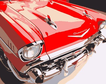 1957 Chevy Bel Air Paint By Number Kit