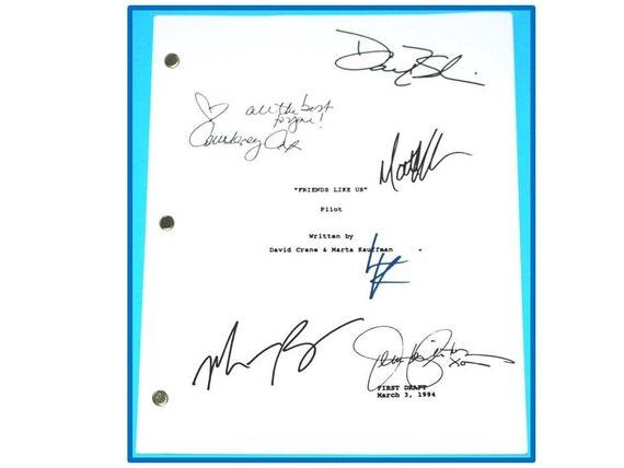 Friends TV Pilot Script Autographed Signed Jennifer Aniston