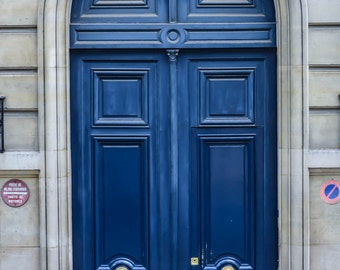 Paris photography, Blue Doors of Paris, set of 6. The varied blue hues of these doors make a beautiful set; also sold individually.