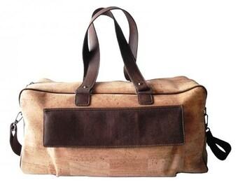 Cork Travel Bag / Weekend Bag / Sports Bag - FREE SHIPPING WORLDWIDE - Vegan Eco-Friendly Christmas Gift Idea