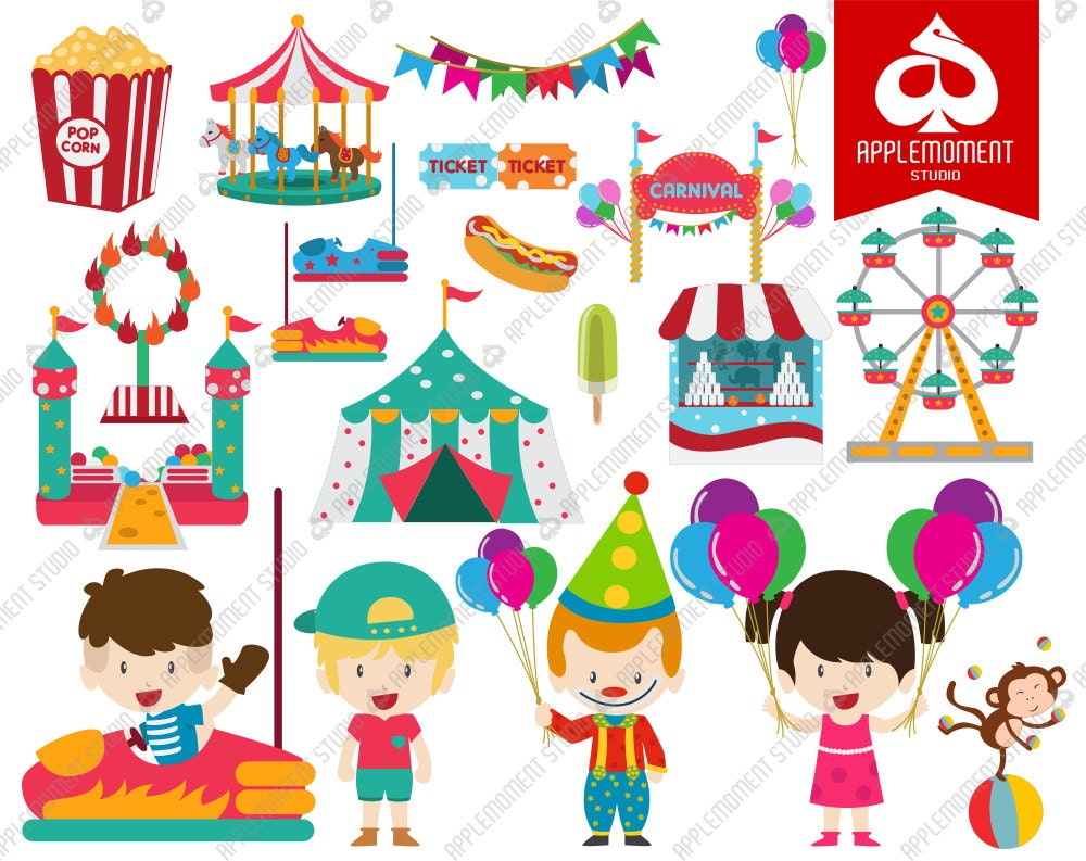 Uncategorized Carnival For Kids carnival kids digital clipart for personal and commercial use