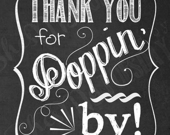 Thank You for Poppin' In Favor Tags - Shower Tags ...