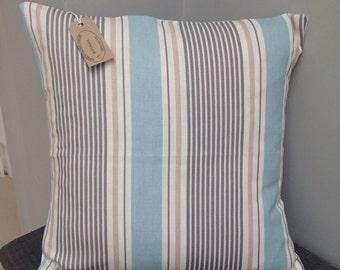 """16"""" cushion cover Blue white stripe nautical"""