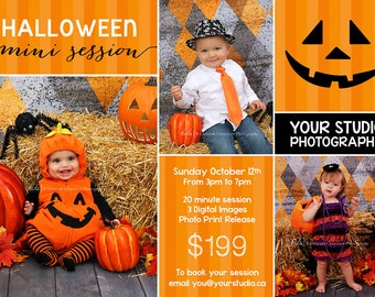 Halloween Mini Session, Halloween Template, Halloween Flyer, Mini Session Template, Flyer Template,
