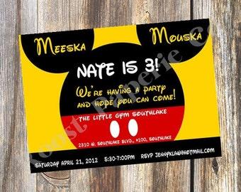 Micky Mouse Birthday Party, Kids Party, Micky Mouse Baby Shower, Micky and Minnie Party, Kids Birthday Party, Kids Party Invitations, Micky
