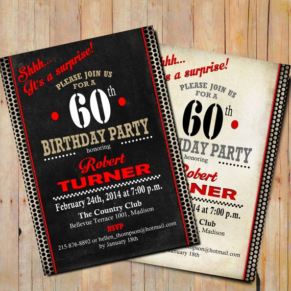 Items Similar To Surprise 60th Birthday Party Invitation