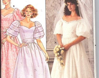 Butterick 3137   Misses' Bridal Gown,  ID386