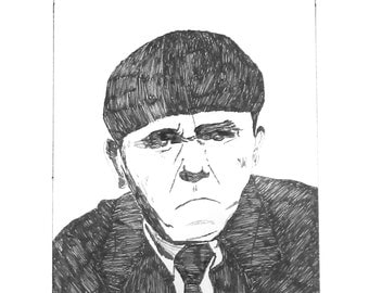 Moe Howard from the 3 Stooges Art Print