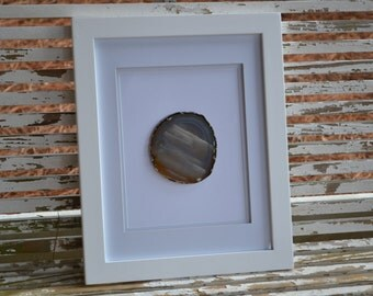 agate slice in 11x14 frame
