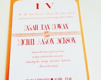 Peach Love Wedding Invitation