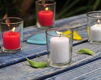 Glass Cup Tea Light Candle Holder, 2-1/2-inch, 6-Piece, PSHSHGA032C