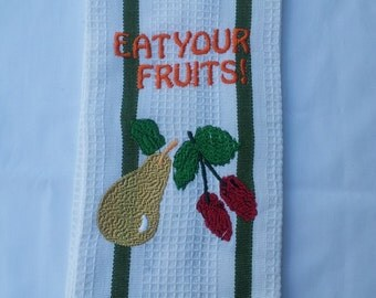 Embroidered Kitchen Towel