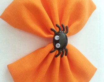Halloween- Halloween Hair Bow with Spider- Bows with Spiders- Black Spider- Halloween Bow- Halloween Bow with Spider- Cute Halloween Bow