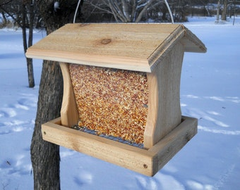 How to make a hanging wooden bird feeder for How to make a wooden bird feeder