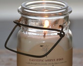 16 oz Antique Bail SOY Jar Candle - Made in Maine / Vegan / GMO Free / Dye Free / Cruelty Free / Vintage Candle Holder / Choose 10 Scents