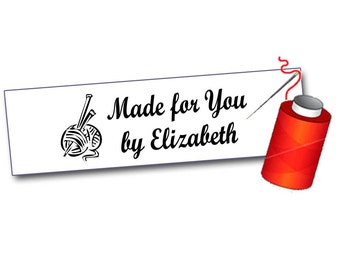 100 Crafters Sew On Labels for Clothing, Personalized with your text