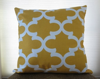 pillow cover 20x20, Moroccan pillow cover, zipper closure pillow cover, yellow throw pillow cover, toss pillow cover