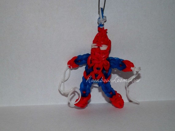 This is a picture of Accomplished Rainbow Loom Spiderman Face Coloring