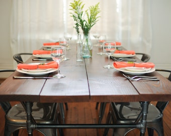 Handcrafted Wood & Metal Dining Table (8-10 people) - The Urban Collection