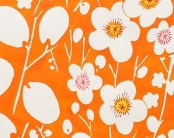 SALE Flower Garden - Nobi in Orange/White - Alexander Henry - Cotton - Half Yard