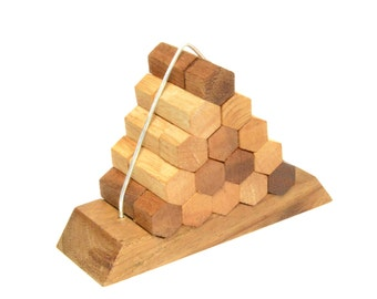Beehive Pyramid, Puzzle game, Wooden game, Woodworking