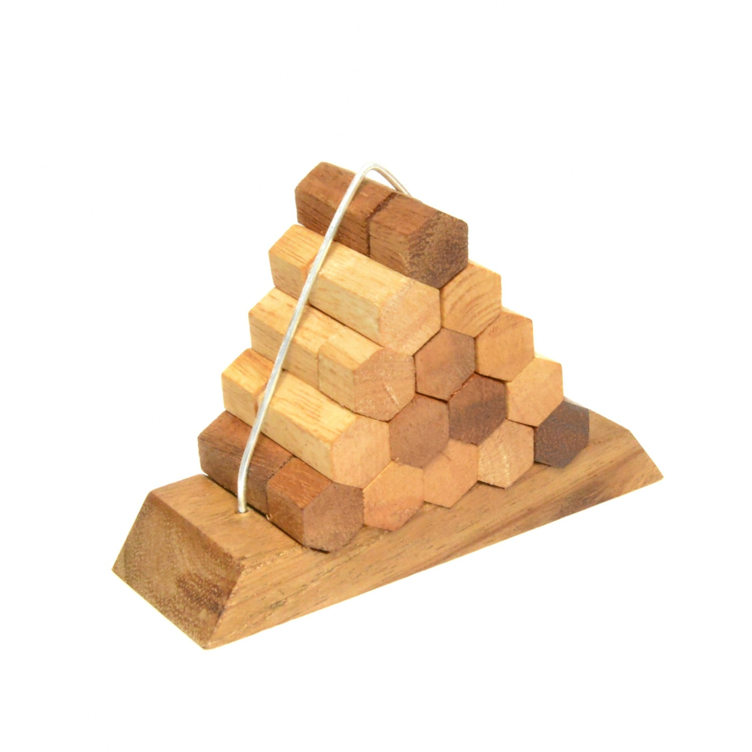 Beehive Pyramid Puzzle game Wooden game Woodworking