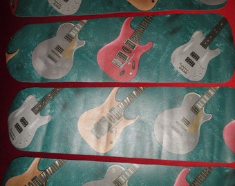 Custom Electric Guitar  ROCK STAR Music Band Teens Ceiling Fan ~ Unique