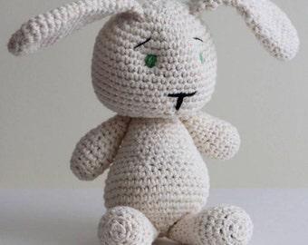 Pattern-bunny, crochet amigurumi, crocheted toy pattern