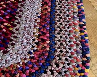 Color Chips Braided Wool Rug