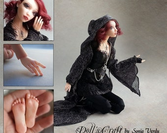 Bjd -  Ooak- ball jointed doll. Art doll - VERY REALISTIC. Bjd art. Ghotic