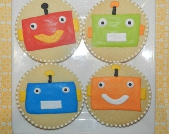 Robot Cookies One Dozen (Individually Bagged)