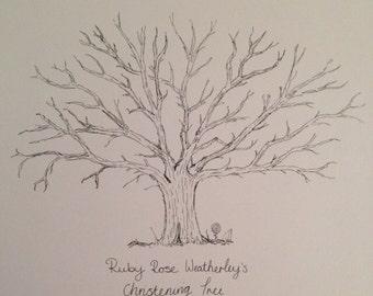 Fingerprint tree for a christening