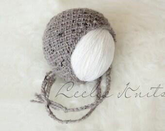 Pattern - Newborn Tweed Knit Bonnet Pattern