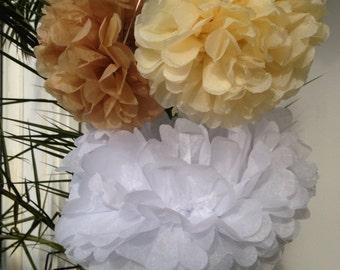 Set of 5 Tissue Pompoms Nursery Pompom Party Decor Tissue Paper Flower Poms Ceremony Decoration Pom Pom Wedding Paper Pom Wedding Reception