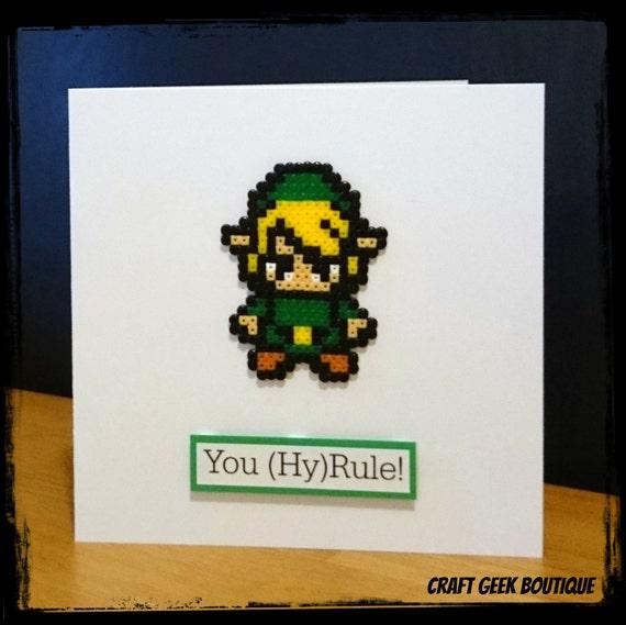 Items Similar To Legend Of Zelda Link Hama Perler Bead