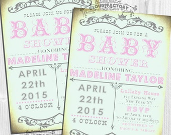 princess baby shower invitations for a girl blush by cloudfactory, Baby shower invitations