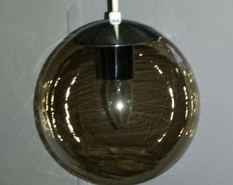 Eams Era Danish Pendant Light The Orbital 10in Globe W Smoked Glass Globe