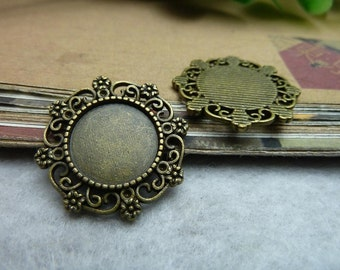 10PCS 14mm base Antique Bronze  bezel cup Mounting and setting Jewelry findings wholesale bD279