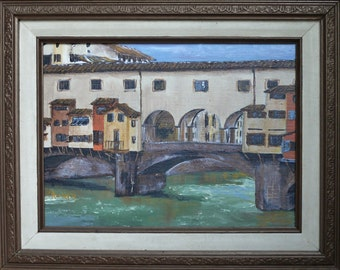 Acrylic Painting of Ponte Vecchio, Florence, Italy